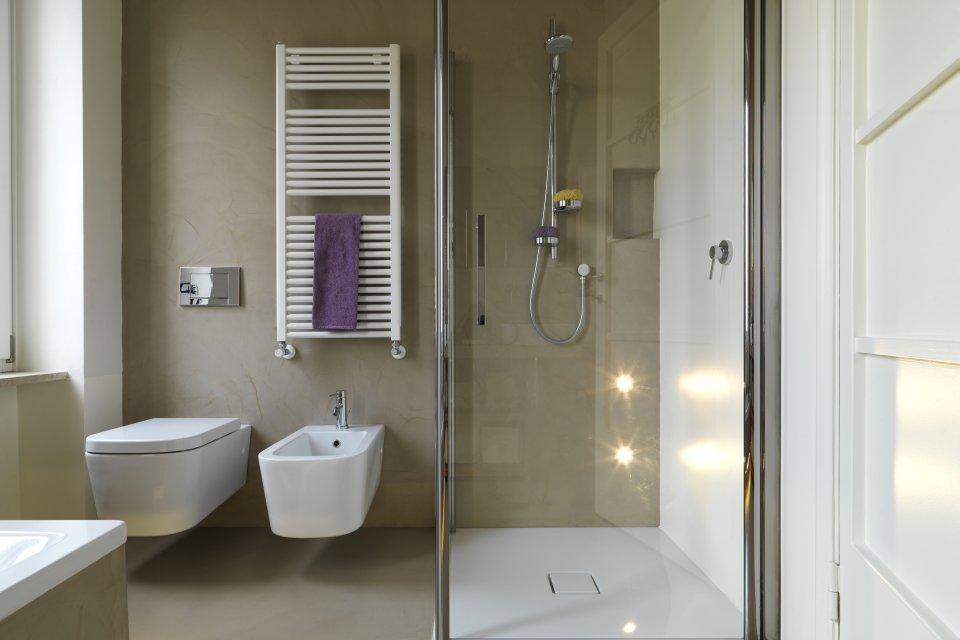 Impressies van de bouw van het huis glazen douchedeur op maat